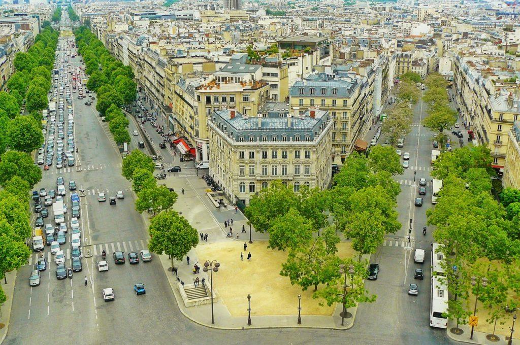 Ville de Paris vue de haut