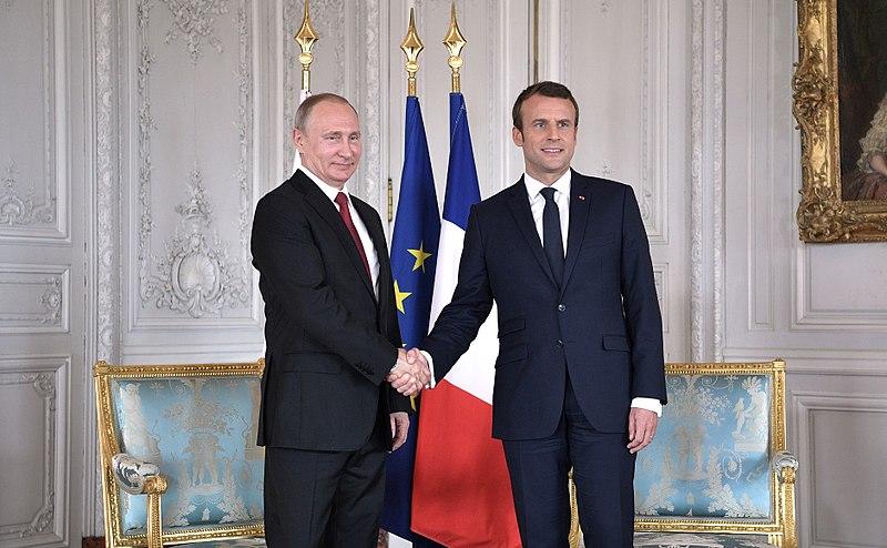 Vladimir Putin et Emmanuel Macron